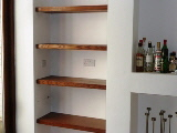 corner glass shelves